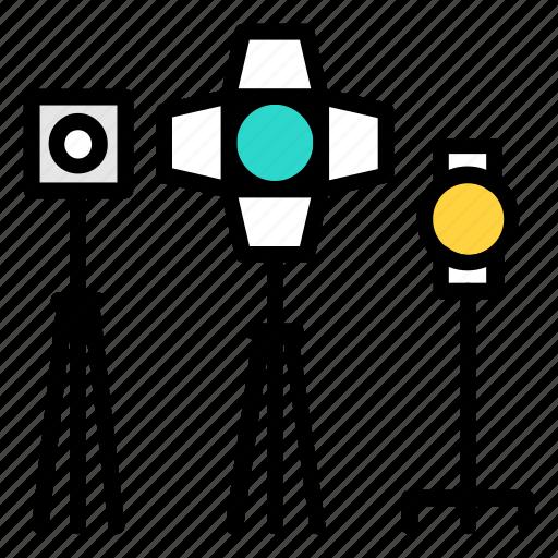 filming, lightning, lights, studio icon icon