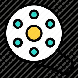 bobbin, cinema, film, movie, reel icon icon