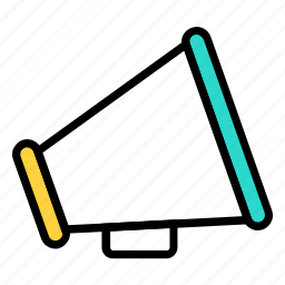 advertisement, advertising, announcement, horn, loudspeaker, marketing, speaker icon icon