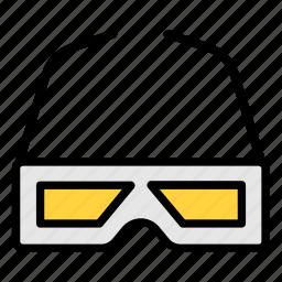 3d, 3d glasses, cinema, glasses, movie icon icon