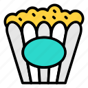 cinema refreshment, corn, popcorn, snacks icon icon