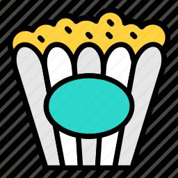 cinema refreshment, corn, popcorn, snacks icon icon