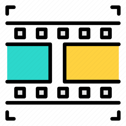 clip, film, movie, multimedia, play, short, video icon icon