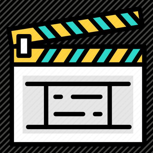clap, film, movie, video icon icon