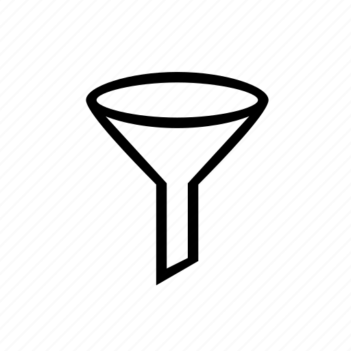 filters, funnel, results icon