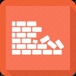 brick, bricks, wall icon