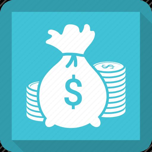 bag, coin, dollars, money, us icon