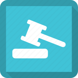 auction, hammer, judge, meanicons icon