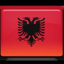 albania, flag, shqiperia icon