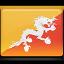 bhutan, flag icon