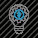 business, finance, idea, research icon