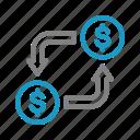 business, finance, money, money changer icon