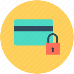 atm card security, card locked, card protected, lock, password protected icon