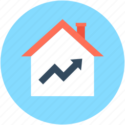 building, home loan, house, house value, property value icon