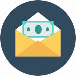 banking, banknote, envelope, money, payment icon