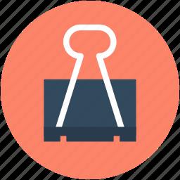 binder clip, bulldog clip, clip, grip clip, office clip icon