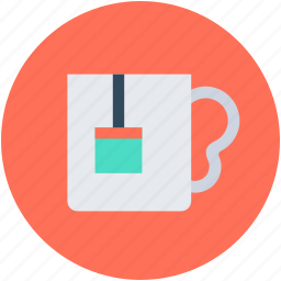 cup, hot drink, hot tea, tea pack, teacup icon