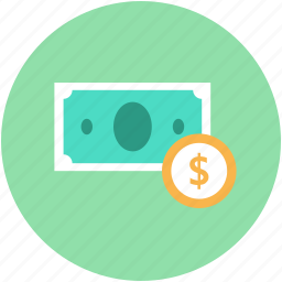 coin, currency, dollar, paper money, paper notes icon