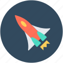 missile, rocket, rocket ship, space, spaceship icon