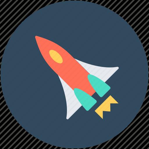 missile, rocket, rocket ship, space, spaceship icon