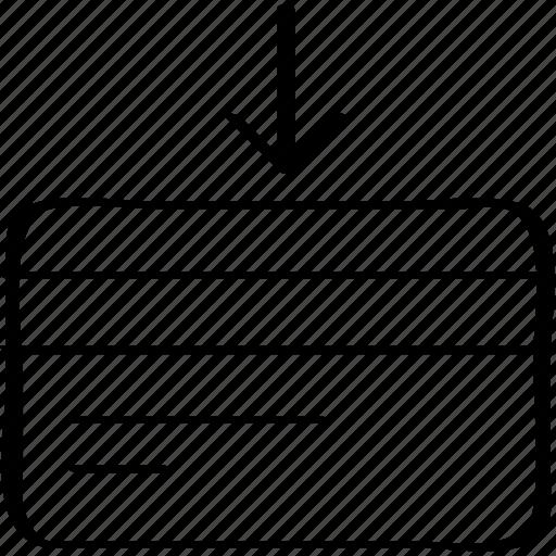arrow, credit, finance icon