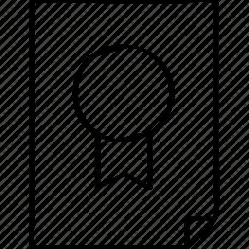 award, paper, report icon