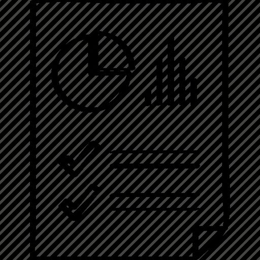 bars, document, report icon