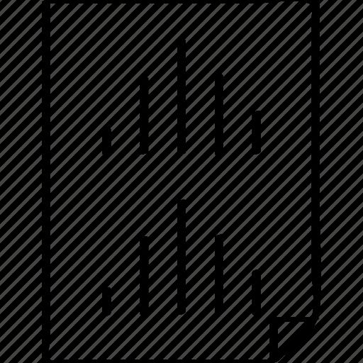 bars, paper, report icon