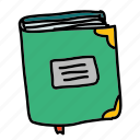 book, business, edges, finance, label icon