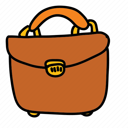 briefcase, business, finance, luggage, papers icon