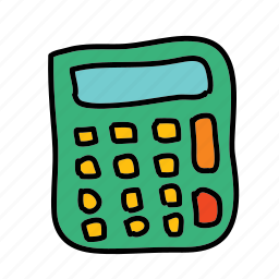 business, calculating, calculator, finance, profit icon