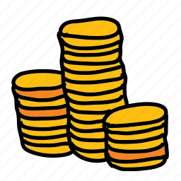business, coins, finance icon