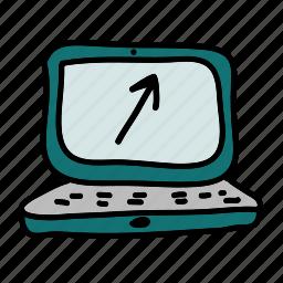 arrow, business, computer, finance, profit, up icon