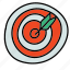 bullseye, business, dart, darts, finance, target icon