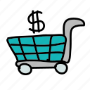 business, buy, dollar, finance, kart, sell icon