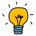 business, finance, idea, lightbulb icon