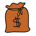 bag, business, cash, finance, money icon