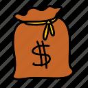 finance, bag, cash, business, money