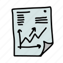 arrow, business, finance, paper, profit, statistics, up icon