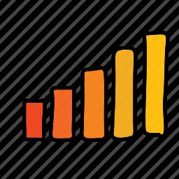 business, finance, profit, rise, statistics icon