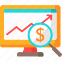 1, bars, business, finance, graphic, monitor, profits, stats icon