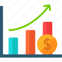 bars, business, finance, graph, graphic, profits icon