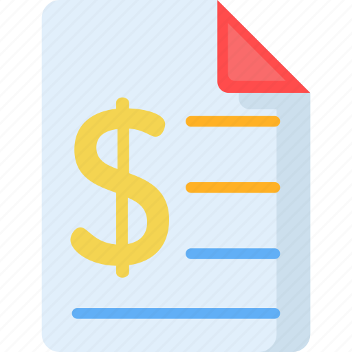 bill, business, commerce, invoice, payment, receipt, ticket icon