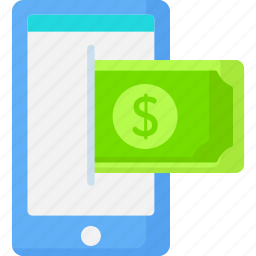 cellphone, communication, dollar, money, smartphone, technology icon