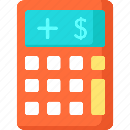 business and finance, calculator, maths, technology icon