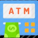 atm, business and finance, cash machine, cash point, machine, money icon