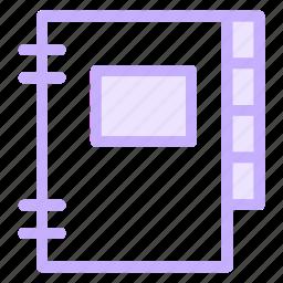 adressbook, contact, notebook, phonebook icon