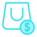 bag, carry, money, shopingicon icon
