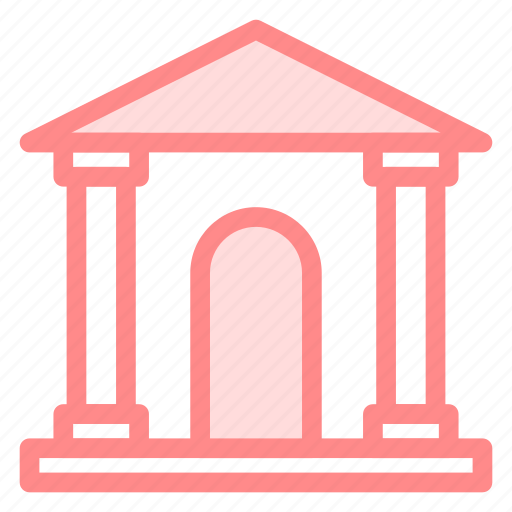 bank, building, business, couthouse icon