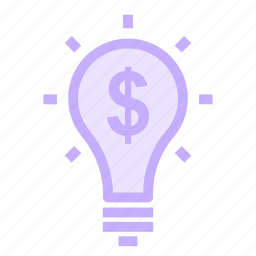 bright, bulb, idea, solution icon